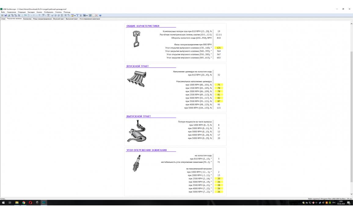 Эталон-In-cylinder pressure analysis / Px Script-Lexus-GS350 : Image 2