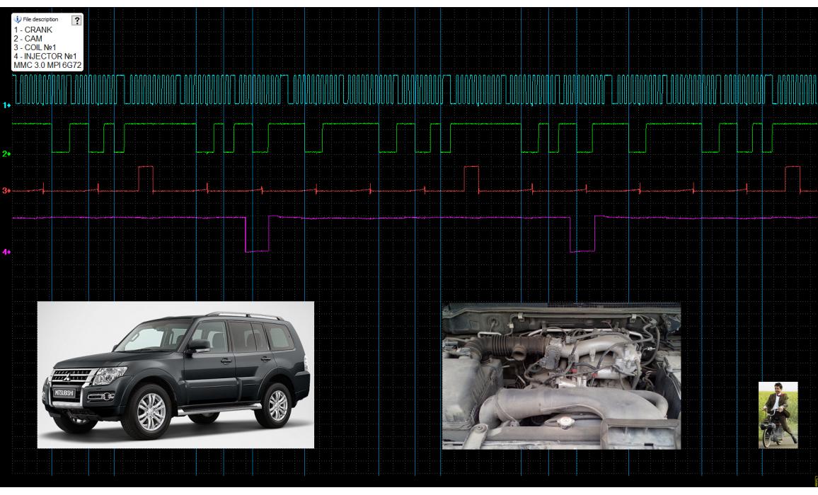 Эталон синхронизации-Сигнал ДПКВ + ДПРВ-Mitsubishi-Pajero 2006– : Image 2