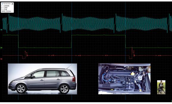Эталон синхронизации-Сигнал ДПКВ + ДПРВ-Opel-Zafira B 2005-2011 : Image 1
