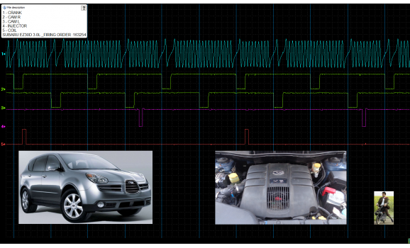 Эталон синхронизации-Сигнал ДПКВ + ДПРВ-Subaru-Tribeca 2004-2014 : Image 1
