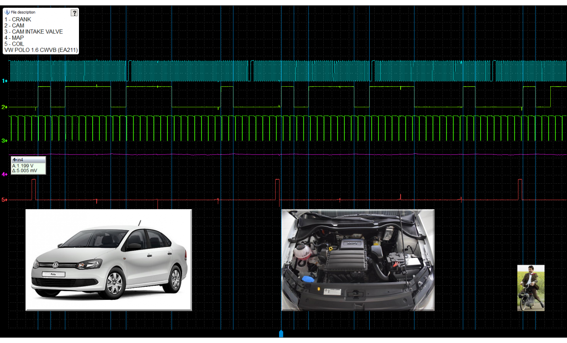 Good timing-CKP & CMP signal-VW-Polo Mk5 2009-2017 : Image 1