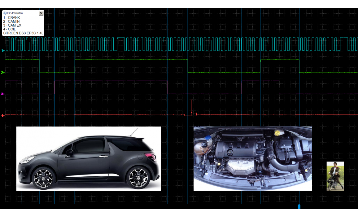 Эталон синхронизации-Сигнал ДПКВ + ДПРВ-Citroën-DS 3 2009-2016 : Image 2