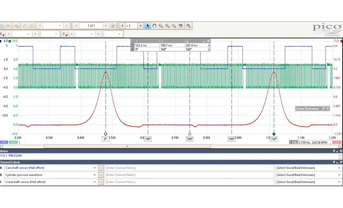 Good timing-CKP, CMP & in-cylinder pressure-Peugeot-RCZ 2009-2015 : Image 1