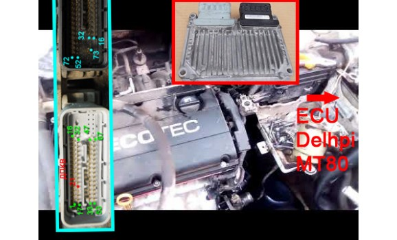 How to connect a scope-Output voltage-Chevrolet-Aveo / Kalos / Cobalt (T200/T250) 2002-2011 : Image 1