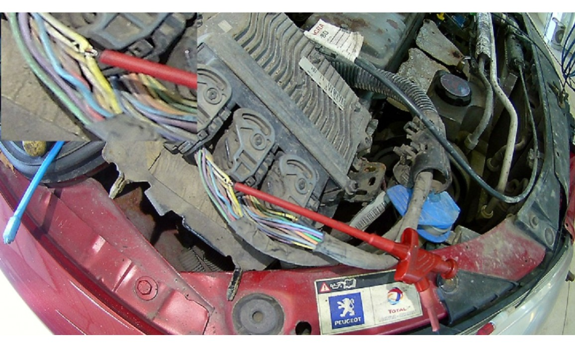 How to connect a scope-Output voltage-Peugeot-207 2006-2014 : Image 1