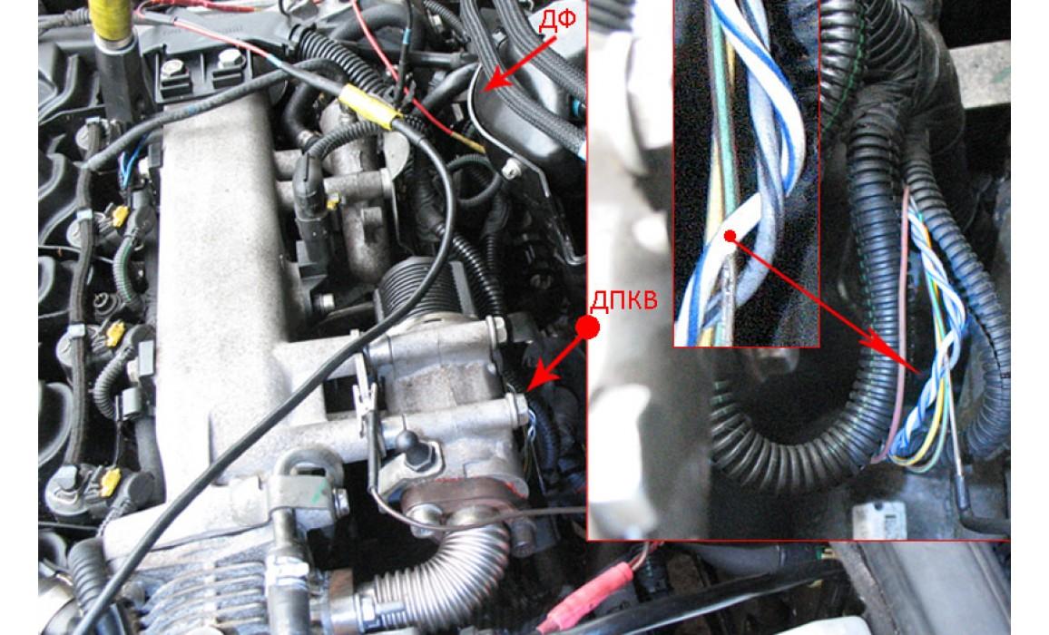 Как подключить осциллограф-Сигнал ДПКВ + ДПРВ-Opel-Zafira B 2005-2011 : Image 1