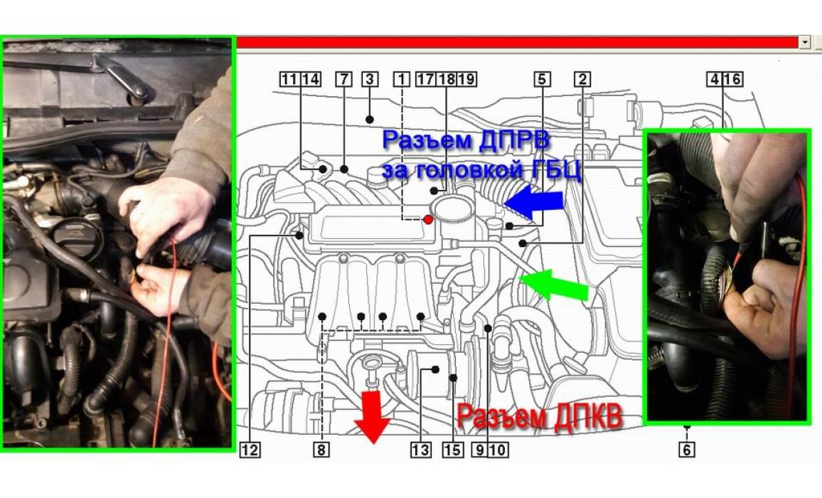 Как подключить осциллограф-Выходное напряжение-Skoda-Octavia 1996-2010 : Image 1