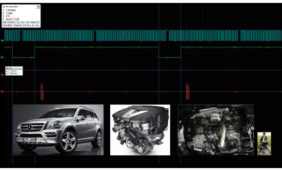 Good timing-CKP & CMP signal-Mercedes-GL-Class (X164) 2006-2012 : Image 1
