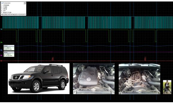 Good timing-CKP & CMP signal-Nissan-Pathfinder R51 2004-2012 : Image 1