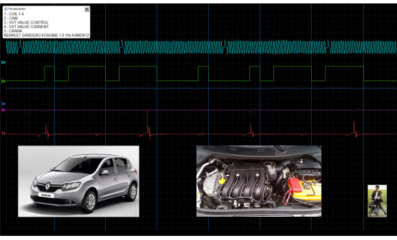 Good timing-CKP & CMP signal-Renault-Sandero II 2012- : Image 1