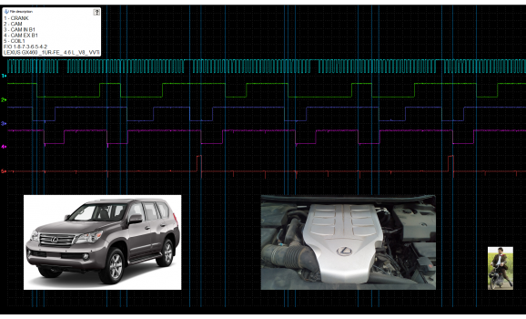 Good timing-CKP & CMP signal-Lexus-GX 2002-2009 : Image 1