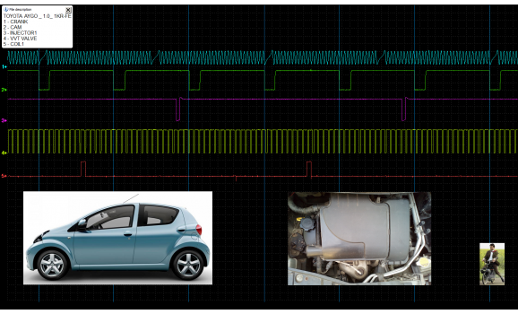 Good timing-CKP & CMP signal-Toyota-Aygo 2005-2014 : Image 1