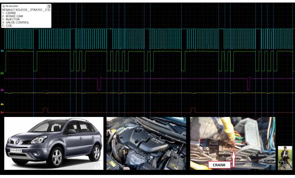 Good timing-CKP & CMP signal-Renault-Koleos 1 (HY) 2006-2017 : Image 1