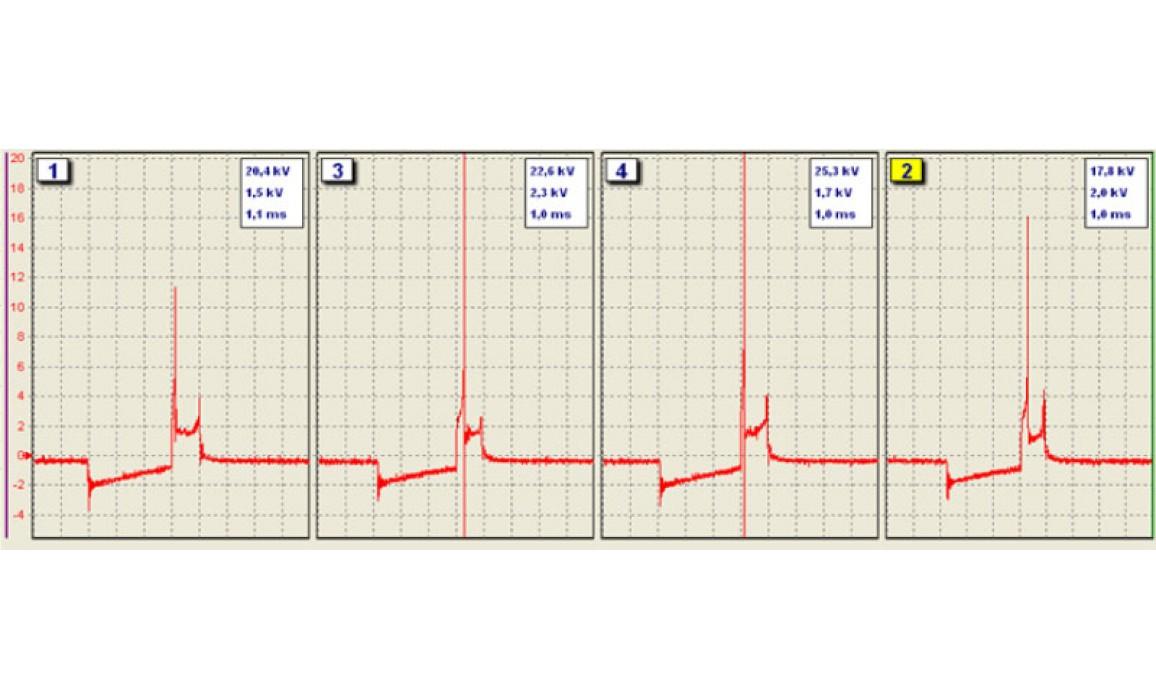 Внутренний пробой катушки - Вторичное напряжение (емкостной датчик Cx) - Daewoo - Lanos 1997- : Image 1