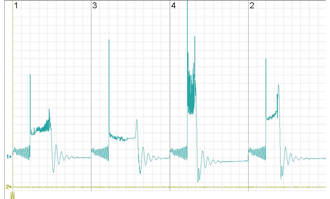 Пробой крышки трамблера - Вторичное напряжение (емкостной датчик Cx) - Mercedes - W140 1991-1998 : Image 1