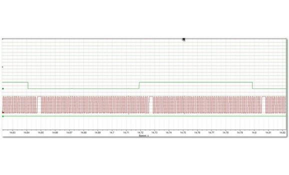 Эталон синхронизации - Сигнал ДПКВ + ДПРВ - Hyundai - Sonata 2004–2009 : Image 1