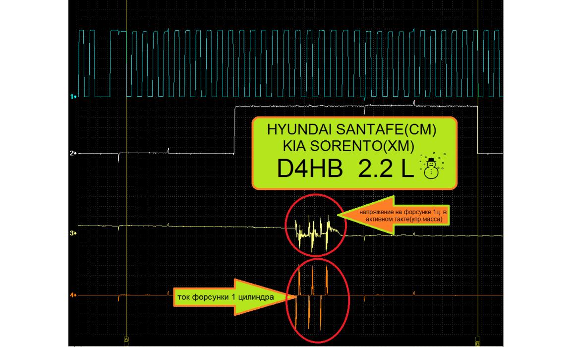 Эталон синхронизации - Сигнал ДПКВ + ДПРВ - KIA - Sorento 2009-2014 : Image 2