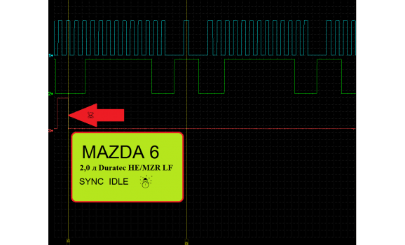 Эталон синхронизации - Сигнал ДПКВ + ДПРВ - Mazda - 6 2007-2012 : Image 1