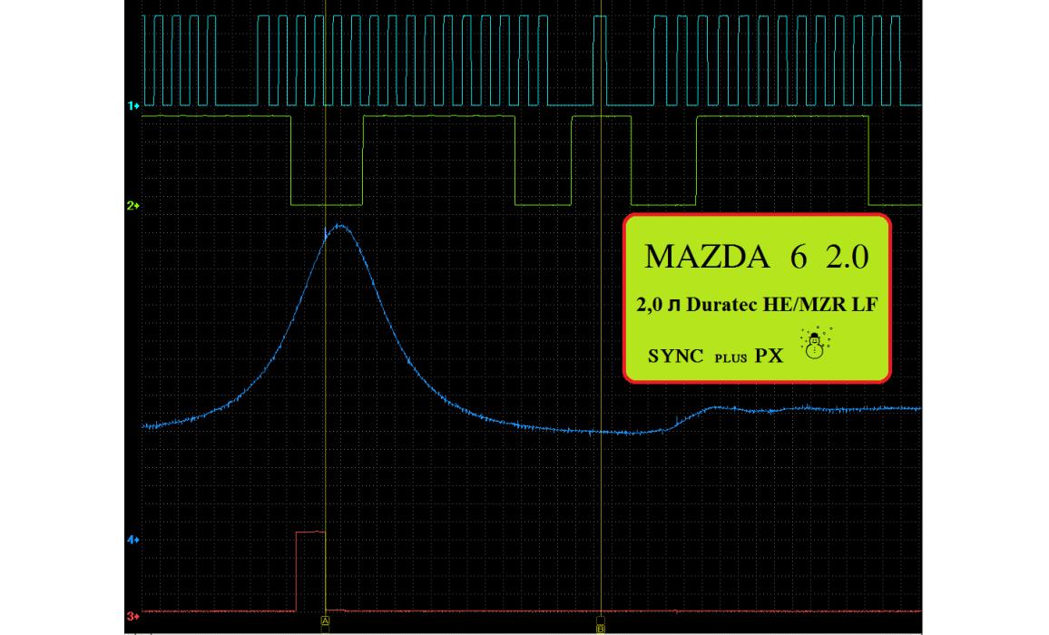 Эталон синхронизации - Сигнал ДПКВ + ДПРВ - Mazda - 6 2007-2012 : Image 2