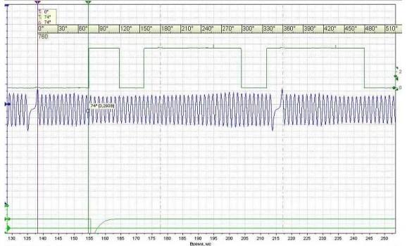 Эталон синхронизации - Сигнал ДПКВ + ДПРВ - VW - Passat B6 2005-2015 : Image 1