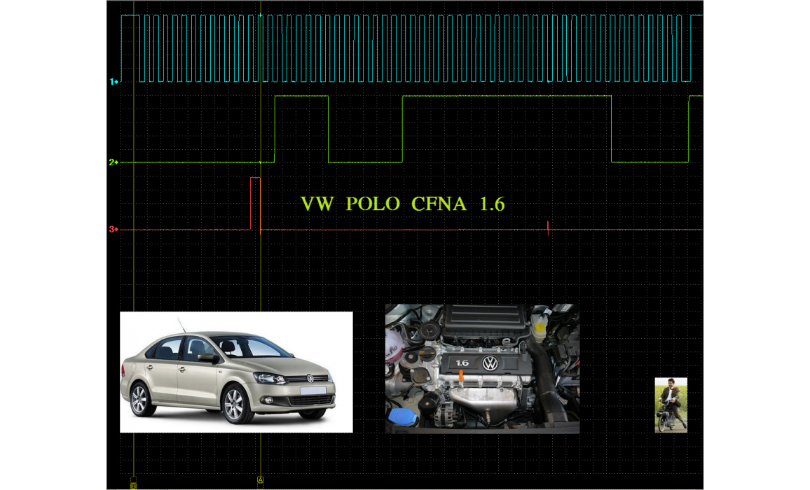 Эталон синхронизации - Сигнал ДПКВ + ДПРВ - Skoda - Fabia 2007-2014 : Image 1