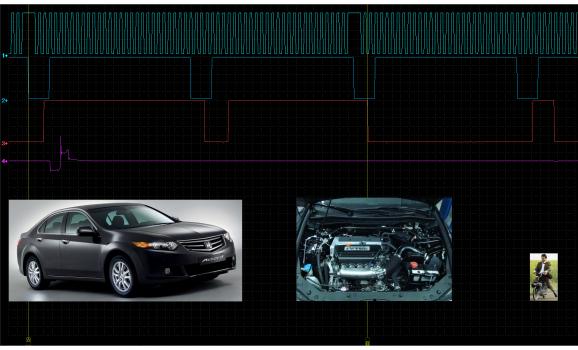 Эталон синхронизации - Сигнал ДПКВ + ДПРВ - Honda - Accord 2003-2007 : Image 1