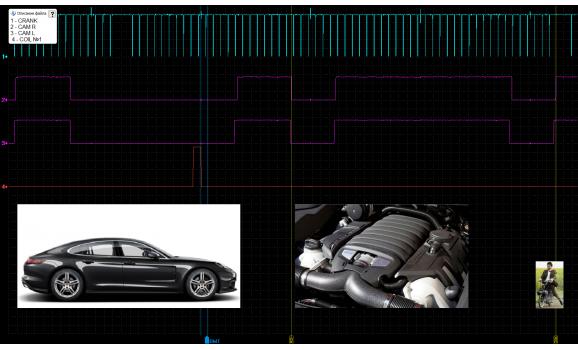Эталон синхронизации - Сигнал ДПКВ + ДПРВ - Porsche - Panamera 2009- : Image 2