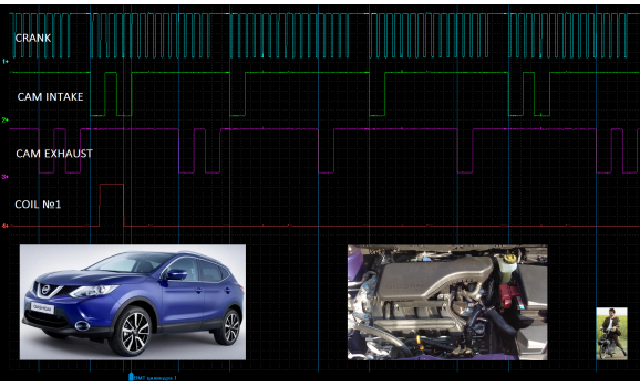 Эталон синхронизации - Сигнал ДПКВ + ДПРВ - Nissan - Qashqai 2006–2013 : Image 1