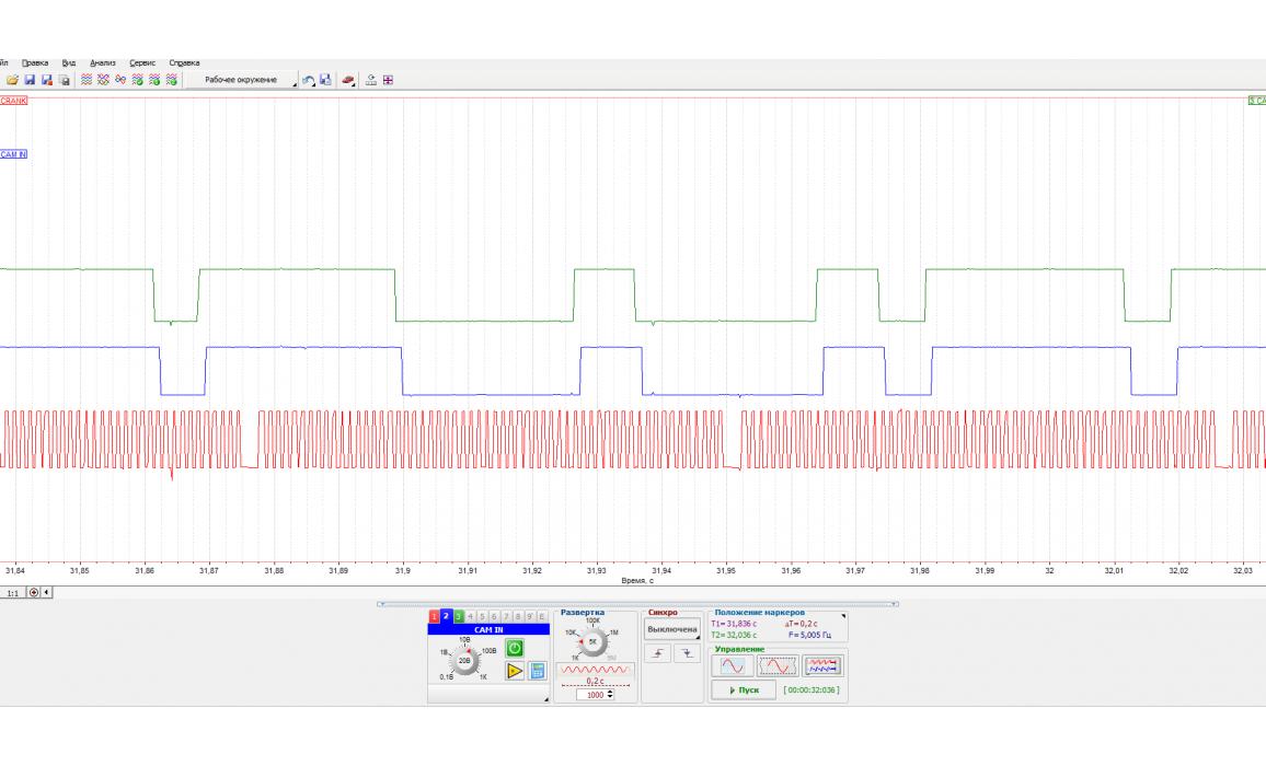 Эталон синхронизации - Сигнал ДПКВ + ДПРВ - Ford - Focus 2011- : Image 2