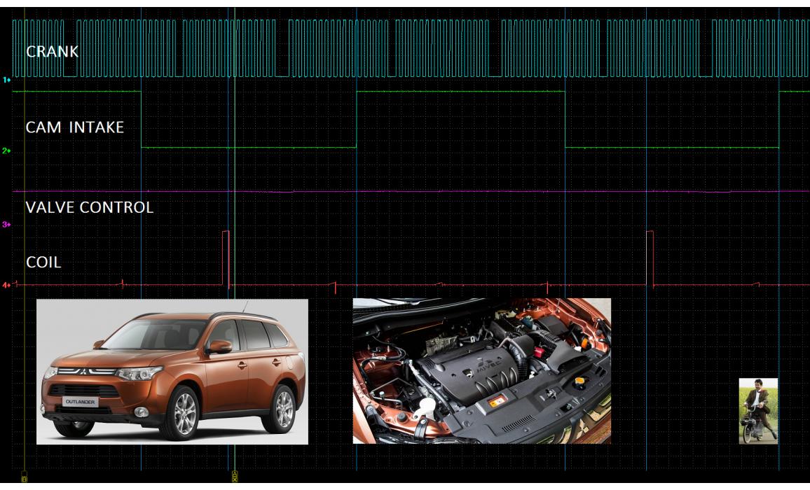 Эталон синхронизации - Сигнал ДПКВ + ДПРВ - Mitsubishi - ASX 2010- : Image 2