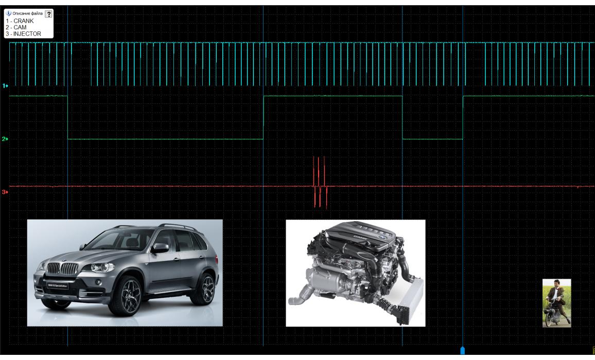Эталон синхронизации - Сигнал ДПКВ + ДПРВ - BMW - X5 E53 1999 - 2006 : Image 1
