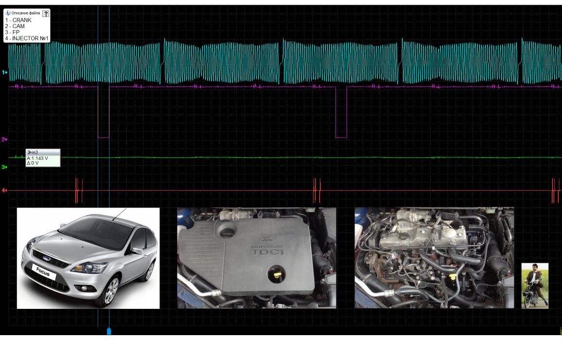 Эталон синхронизации - Сигнал ДПКВ + ДПРВ - Ford - Focus 2004-2011 : Image 1