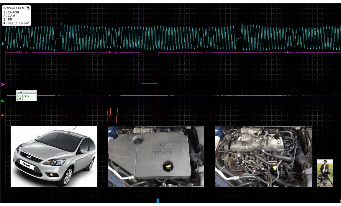 Эталон синхронизации - Сигнал ДПКВ + ДПРВ - Ford - Focus 2004-2011 : Image 2