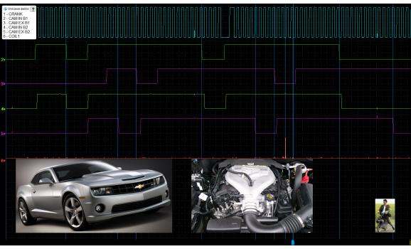 Эталон синхронизации - Сигнал ДПКВ + ДПРВ - Chevrolet - Camaro 2010-2015 : Image 1