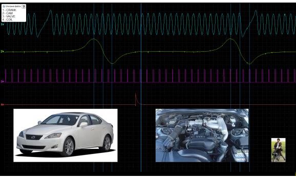 Эталон синхронизации - Сигнал ДПКВ + ДПРВ - Lexus - IS300 1998-2005 : Image 1