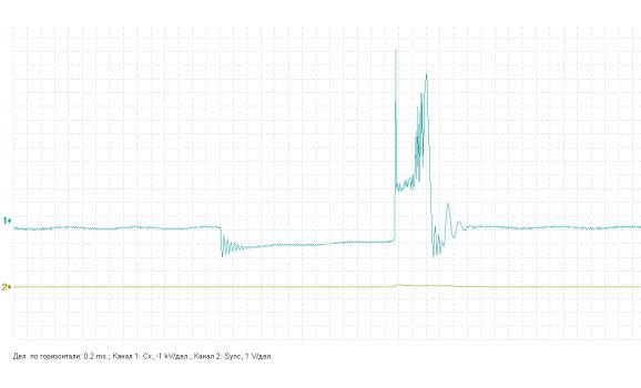 Ignition coil insulator internal breakdown - Secondary voltage (Cx pickup clip) - VAZ - 2110 1995-2007 : Image 2