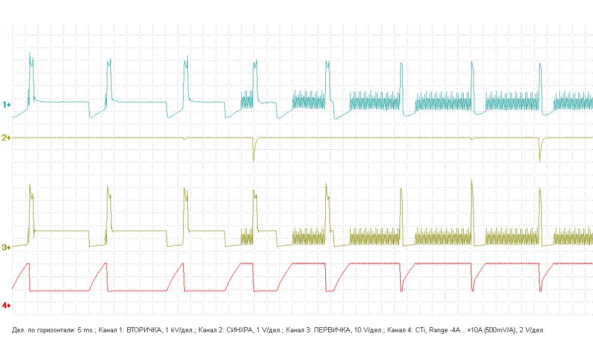 Эталон - Первичное и вторичное напряжение (емкостной датчик Cx) - VW - Passat B3 1988-1993 : Image 1