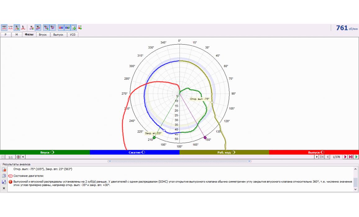 CAM advance - In-cylinder pressure analysis / Px Script - Volvo - S40 1995-2004 : Image 4