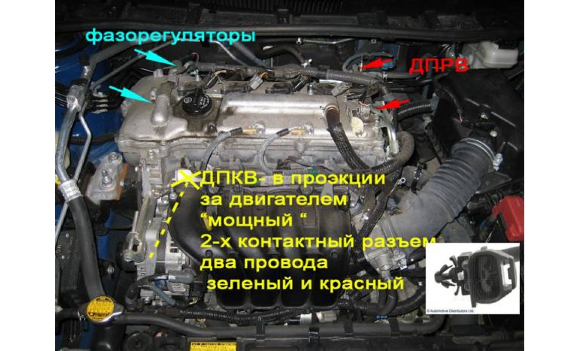How to connect a scope - CKP & CKM signal - Toyota - Corolla 2006–2012 : Image 1