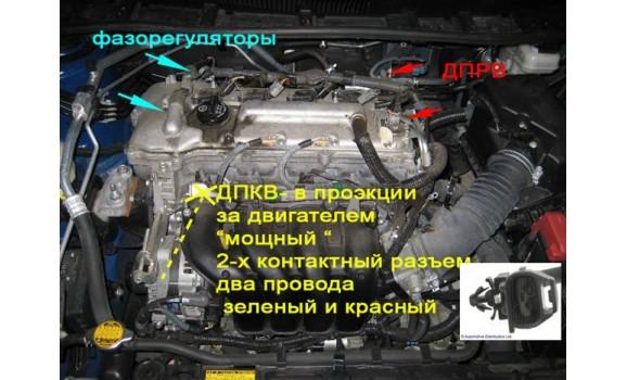 Как подключить осциллограф - Сигнал ДПКВ + ДПРВ - Toyota - Corolla 2006–2012 : Image 1