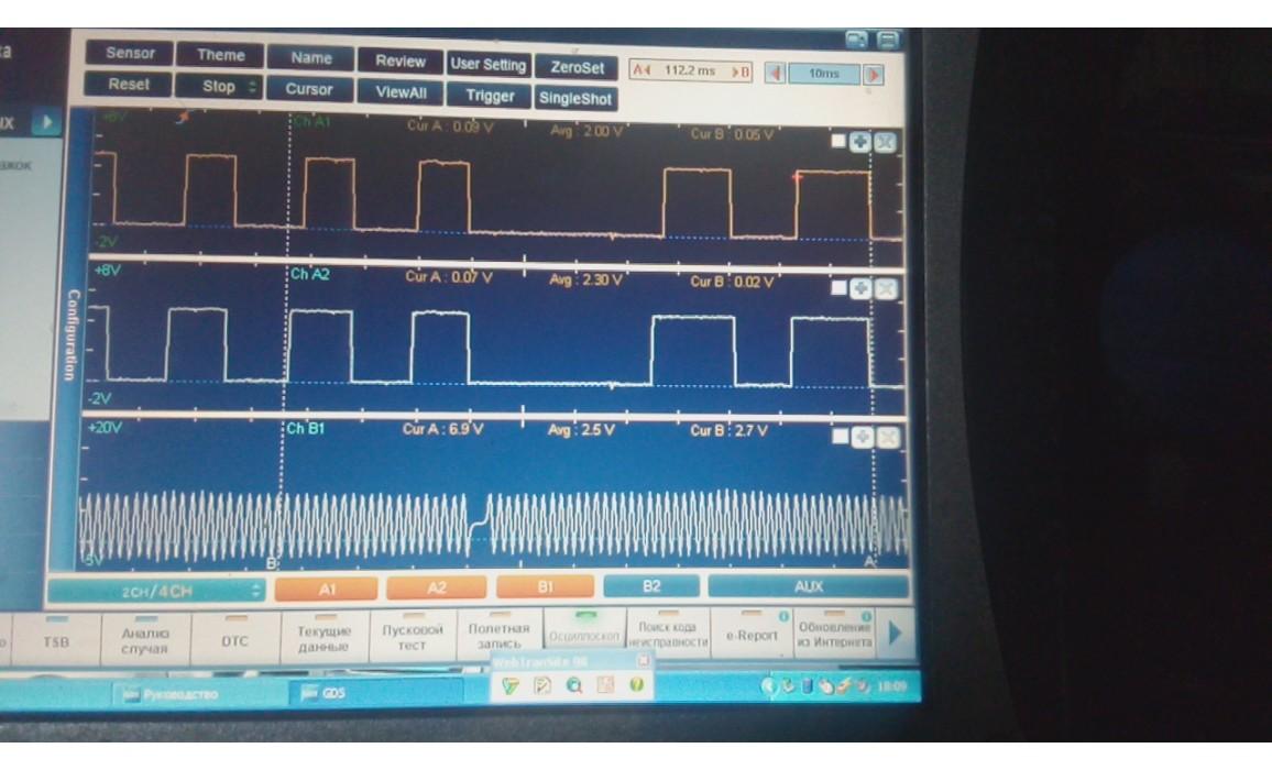 Эталон синхронизации - Сигнал ДПКВ + ДПРВ - KIA - K9 / K900 / Quoris 2012- : Image 1
