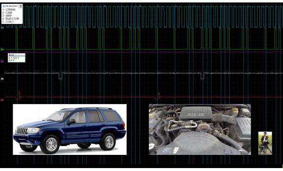 Эталон синхронизации - Сигнал ДПКВ + ДПРВ - Jeep - Grand Cherokee (WJ) 1998-2004 : Image 1