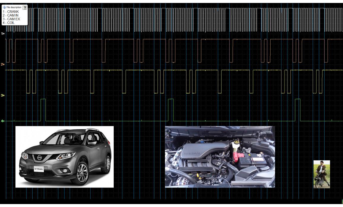 Эталон синхронизации - Сигнал ДПКВ + ДПРВ - Nissan - X-Trail 2013- : Image 2