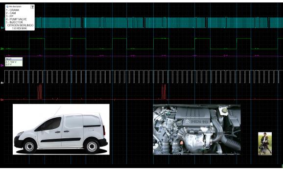 Эталон синхронизации - Сигнал ДПКВ + ДПРВ - Citroën - Berlingo 2008-2018 : Image 2
