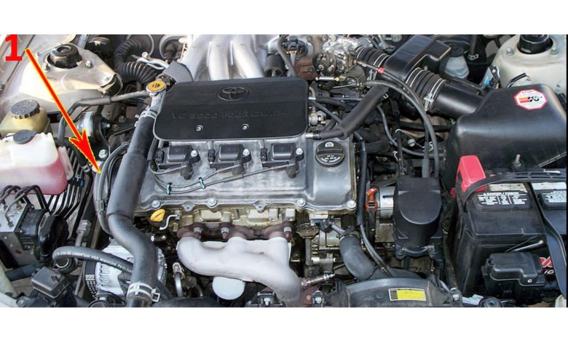Точки подключения щупов - Сигнал ДПКВ + ДПРВ - Lexus - RX300 1999–2003 : Image 3