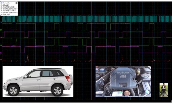 Эталон синхронизации - Сигнал ДПКВ + ДПРВ - Suzuki - Grand Vitara 2005–2017 : Image 1