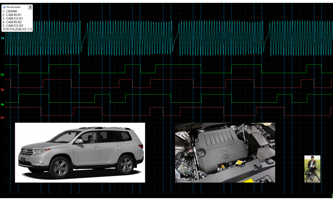 Good timing - CKP & CMP signal - Toyota - Highlander 2007-2013 : Image 1