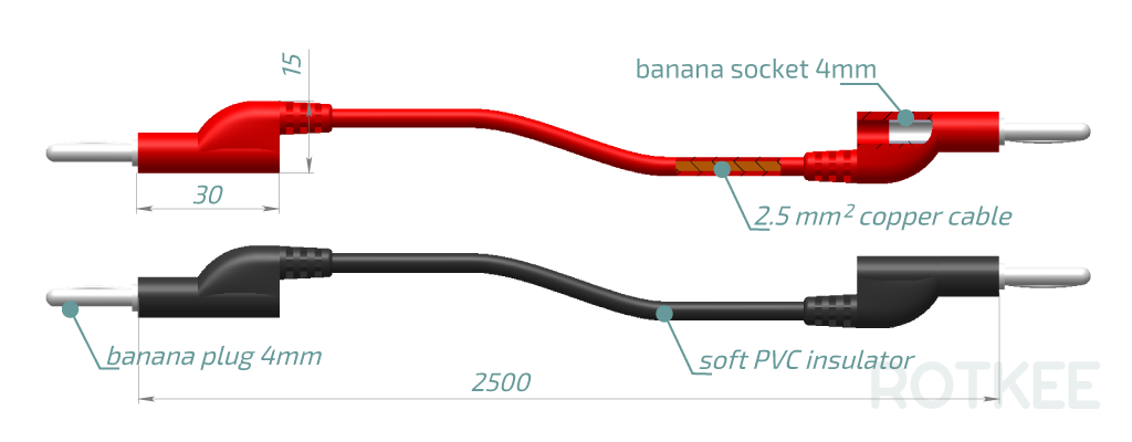 SP-ext banana plug extensions size