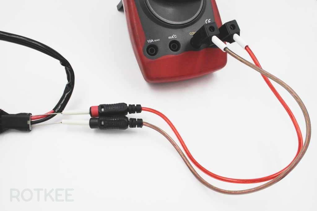 using SP-flexpin flexible probe pin with multimeter