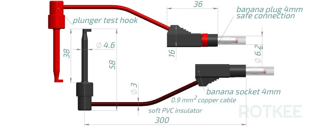 SP-hook test hook probes drawing